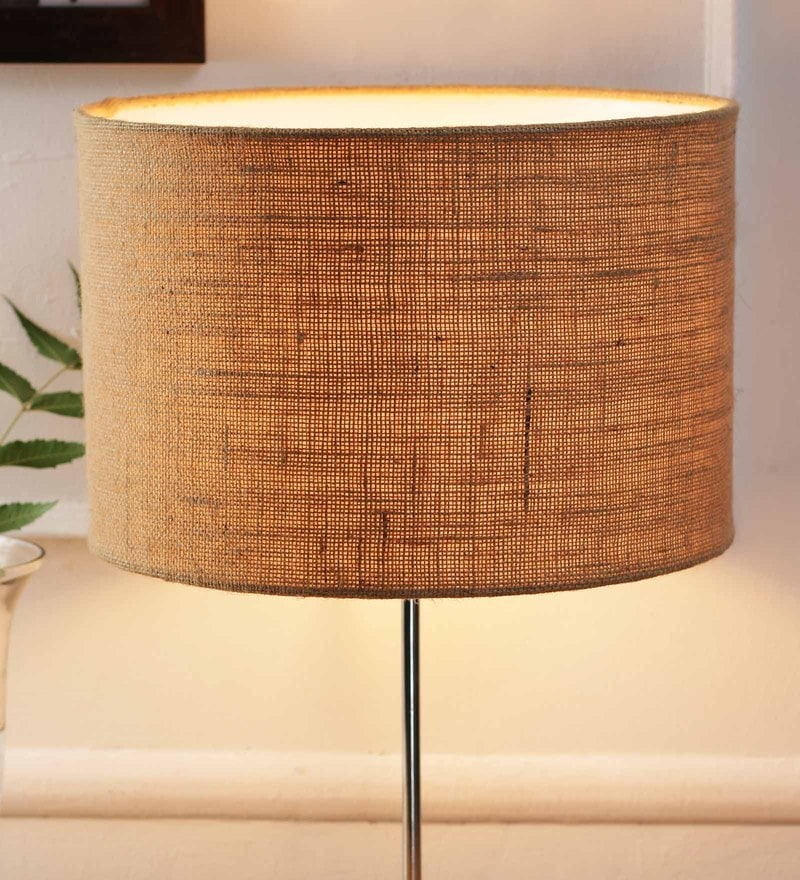 Beige Jute and Stiffener Lamp Shade by New Era