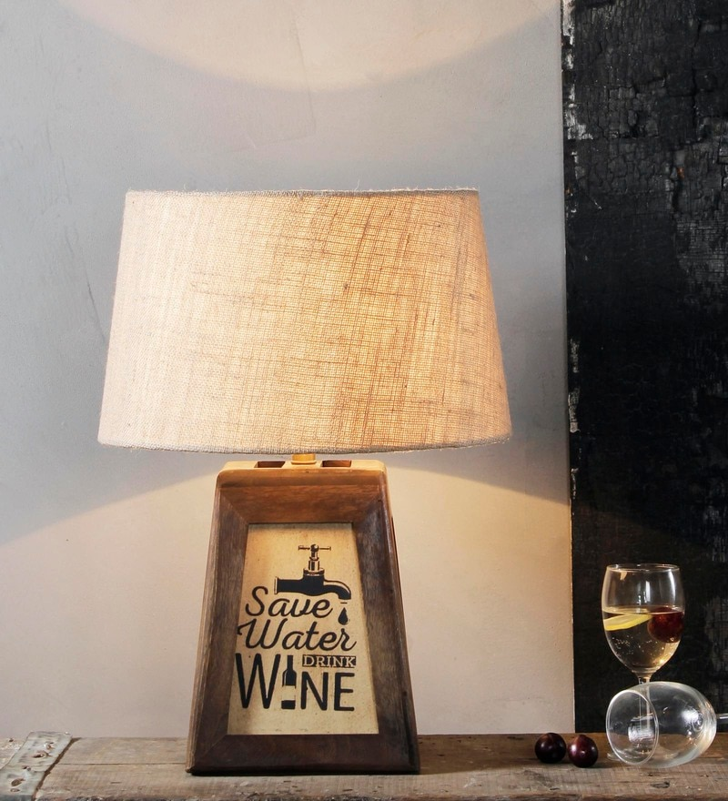 Beige Jute Cerena Table Lamp by Fabuliv