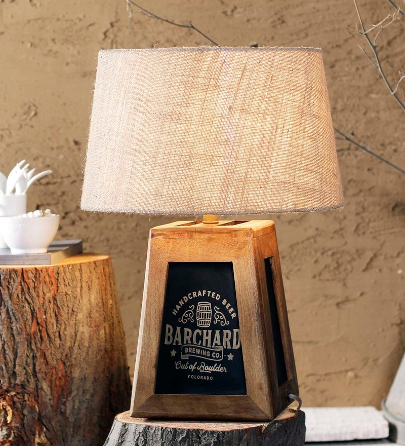 Beige Jute Edward Table Lamp by Fabuliv