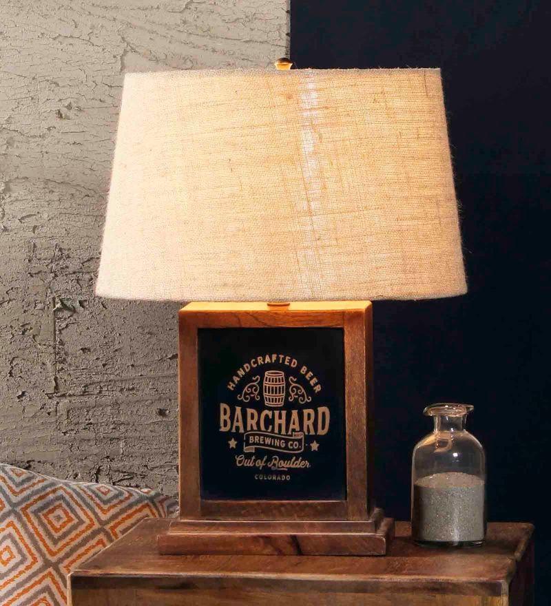 Beige Jute Lyon Table Lamp by Fabuliv