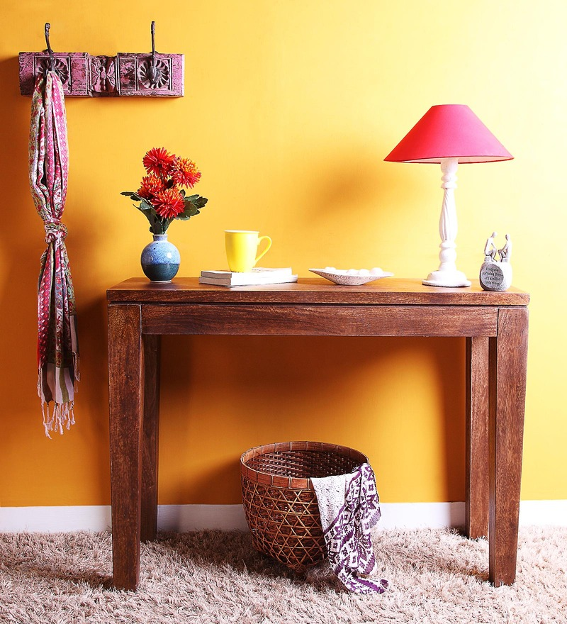 Tacoma Console Table in Provincial Teak Finish by Woodsworth