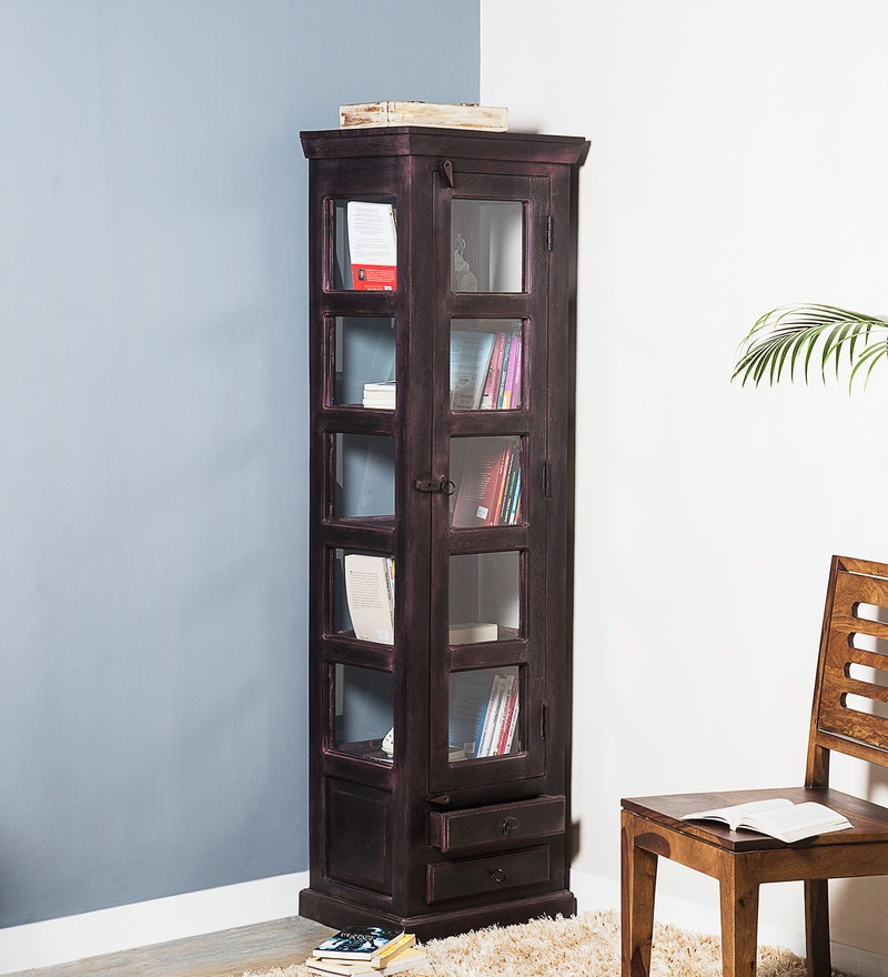 Bernwicke Book Case in Passion Mahogany Finish by Amberville