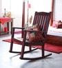 Colin Rocking Chair in Passion Mahogany Finish by Amberville
