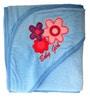 Belle Maison Blue 100% Cotton Hooded Baby Bath Towel