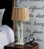 Beverly Studio Brown Fabric Table Lamp