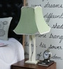 Green Poly Cotton Table Lamp by Beverly Studio