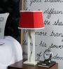 Beverly Studio Red Poly Cotton Table Lamp