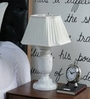 White Poly Cotton Table Lamp by Beverly Studio