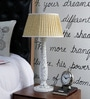 Yellow Khadi Table Lamp by Beverly Studio
