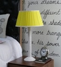 Beverly Studio Yellow Poly Cotton Table Lamp