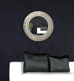 Bianca Hand-Crafted Decorative Round Wall Mirror