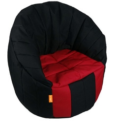 b690fd3d11 Big Boss XXXL Bean Bag (Without Beans) Chair Cover in Black   Red Colour ...