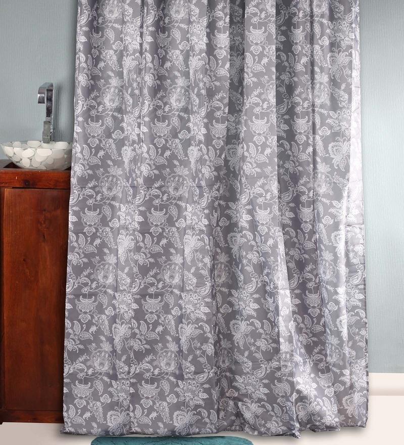 BIANCA Black & White Polyester Shower Curtain