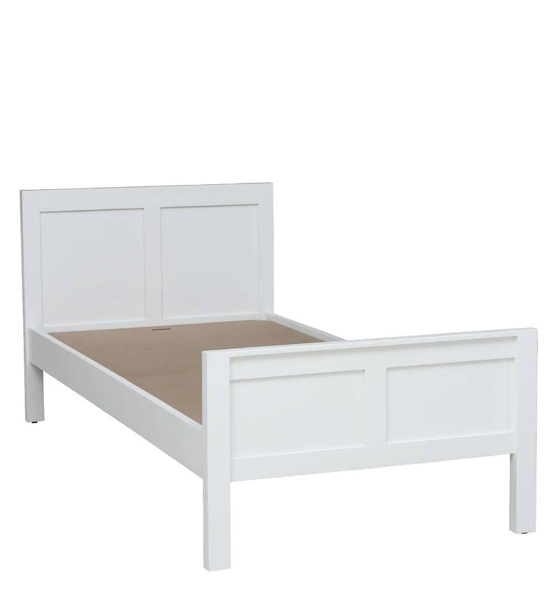 Bianca Solid Wood Single Bed In White Finish By Woodsworth