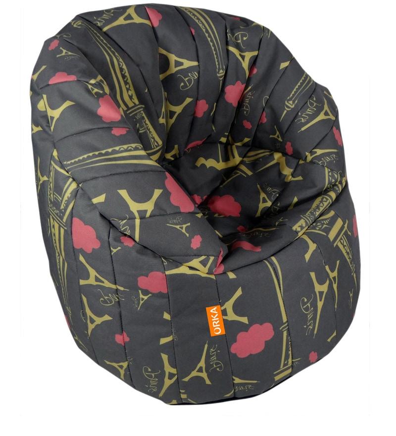 Big Boss XXXL Bean Bag Chair with Beans in Multicolour by Orka