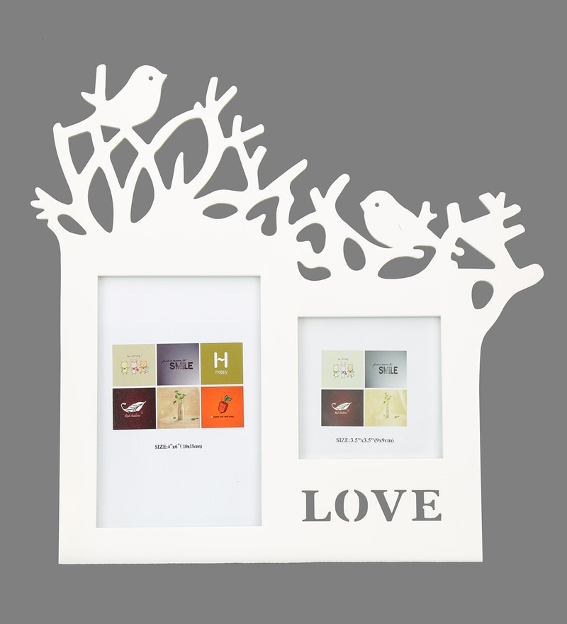 Birds On Double Trees Patterned Mdf Photo Frame By @Home