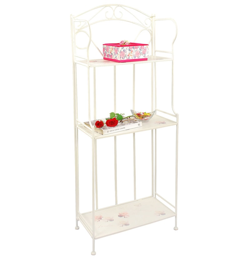 Bistro Large Planter Stand in White by Deneb