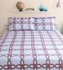 Bianca Blue Cotton King Size Bed Sheet - Set of 3