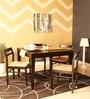 Bibiana Four Seater Dining Set in Espresso Walnut Finish by Woodsworth