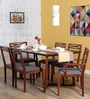 Binita Six Seater Dining Set in Honey Oak Finish by Woodsworth