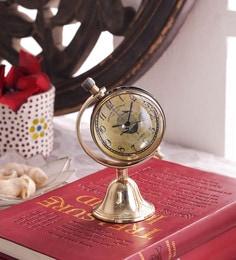 Black & Gold Brass & Acrylic Table Clock - 1727667