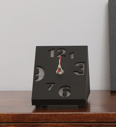 Black Mdf Table Clock
