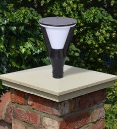 Black Mild Steel Outdoor Gate Light - 1614452