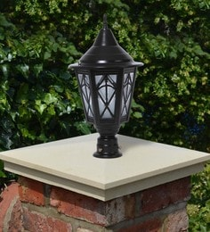 Black Mild Steel Outdoor Gate Light - 1614454