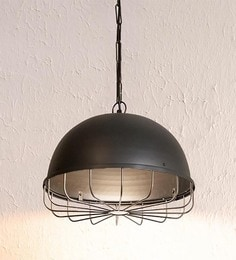 Black Mild Steel Pendant Lamp - 1644165