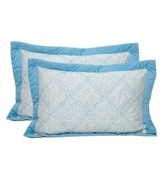 Blue 100% Cotton 20 X 30 Inch Pillow Cover - 1611649