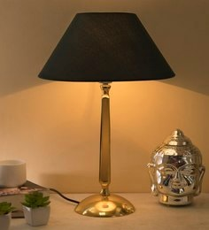 Blue Cotton Table Lamp - 1662959
