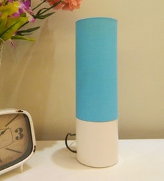 Blue Cotton Table Lamp - 1642667