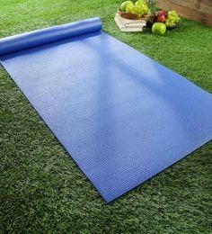 Blue PVC 68 X 24 Inch Yoga Mat - 1630826