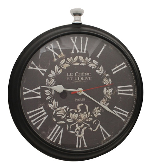 Black Mild Steel Wall Clock By Home