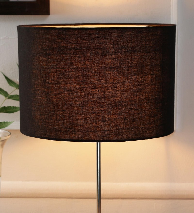 Black Cotton and Stiffener Lamp Shade by New Era