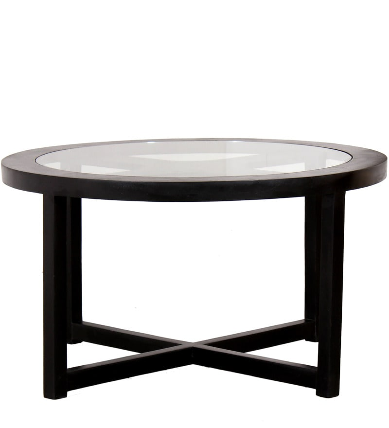 Buy Black Forest Round Coffee Table With 4 Stools By