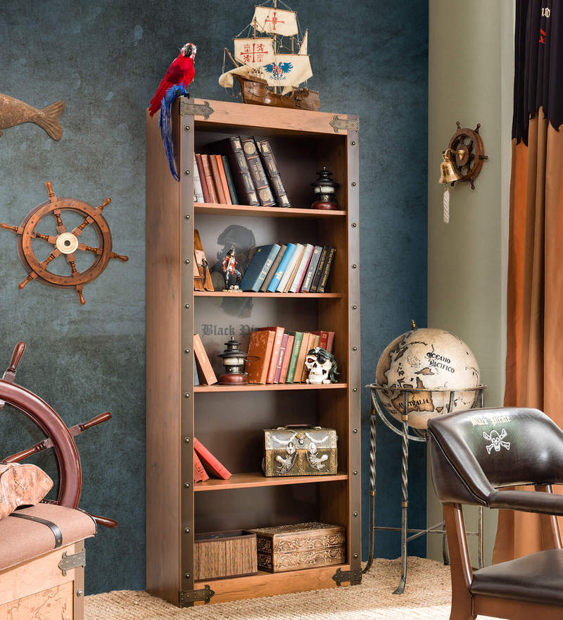 Black Pirate Bookcase by Cilek Room
