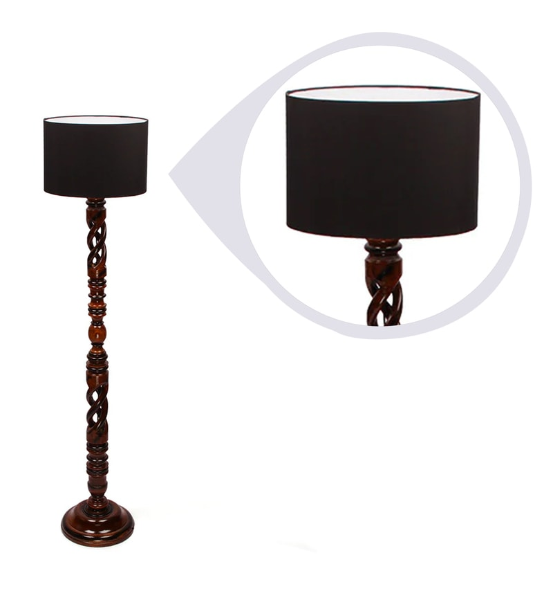 Buy Black Poly Cotton Floor Lamp By The Light House Online