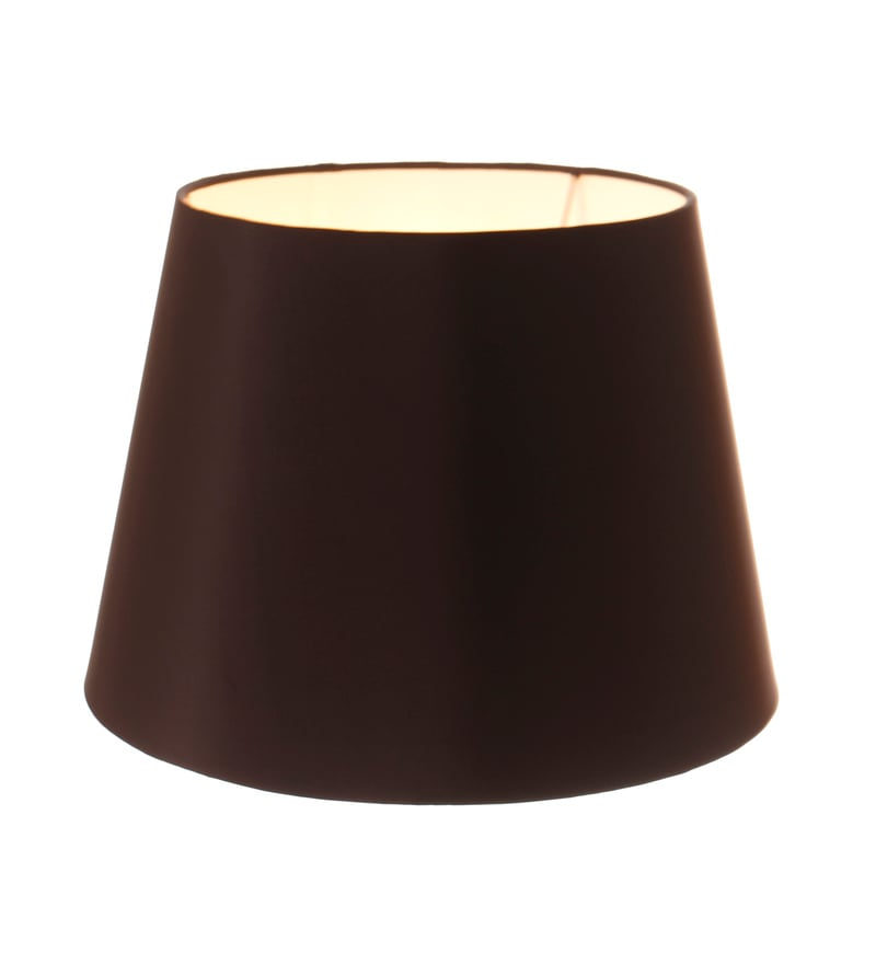 Black Silk Lamp Shade by Anasa