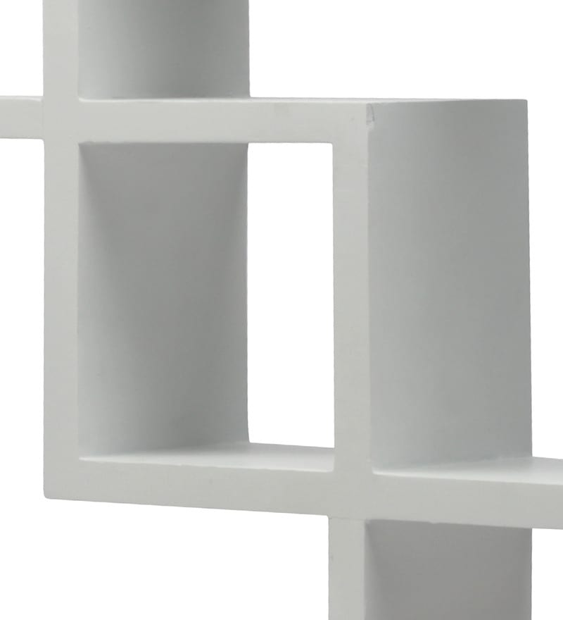 Buy Blackberry Overseas White Pacman Wall Shelf Online