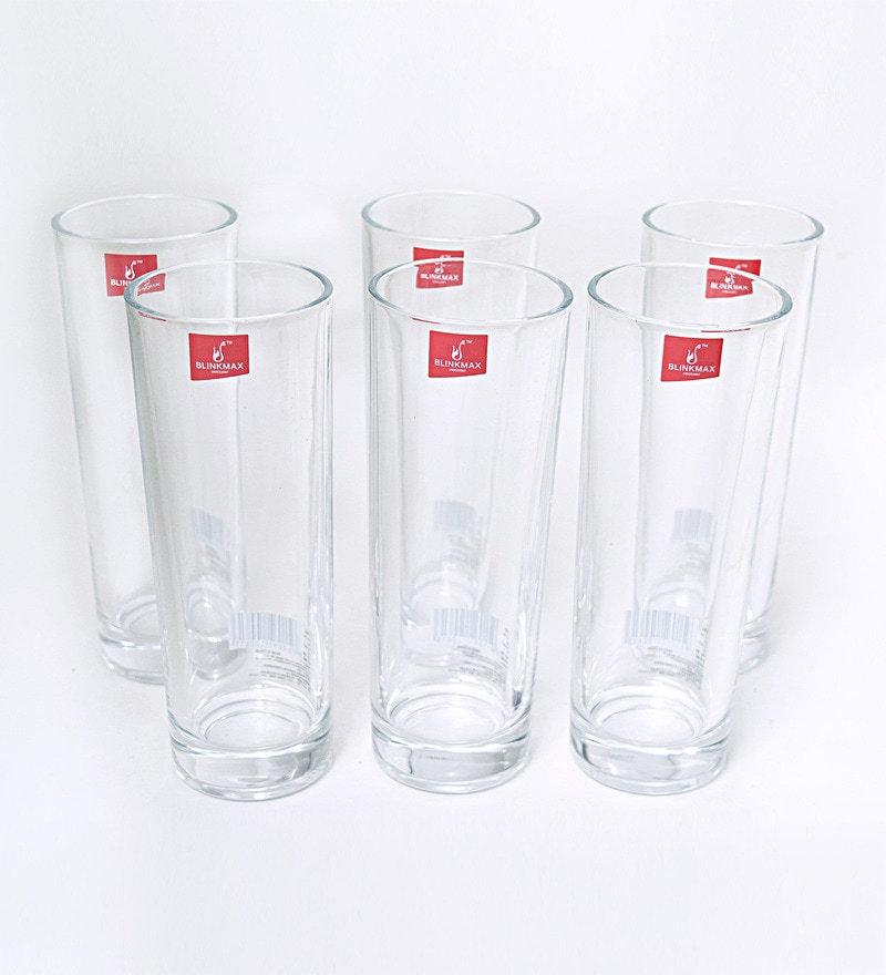 Blinkmax Luna Glass 290 ML Long Glasses - Set of 6