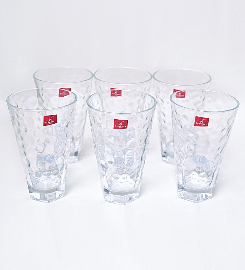 Blinkmax Lyric Glass 310 ML Long Glasses - Set of 6
