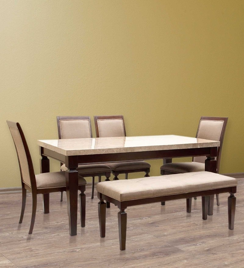 Bliss Marble Top Six Seater Dining Set By HomeTown
