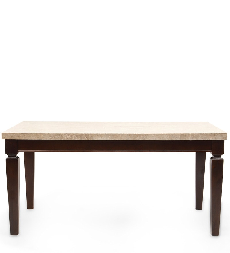 Buy bliss marble top six seater dining set by hometown for Dining table tj hughes