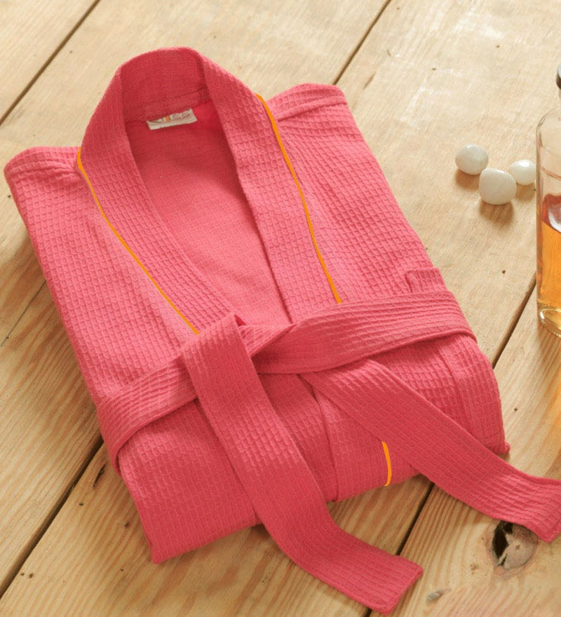 Pink Cotton Bath Robe by Bliss