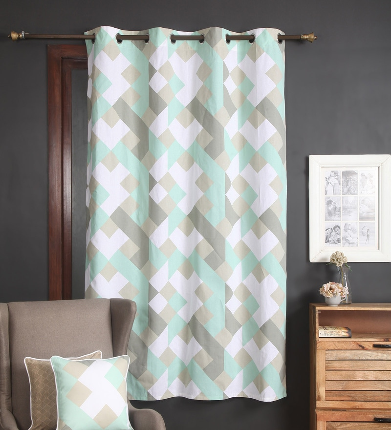 Multicolour Cotton 56 x 84 Inch Aspen Door Curtain by Blue Alcove