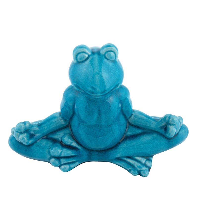 Blue Ceramic Solace Toad Show pieces by MICASA