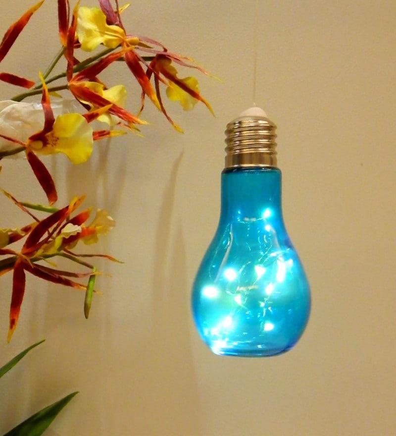 Blue Glass Led Festive Light by Tu casa