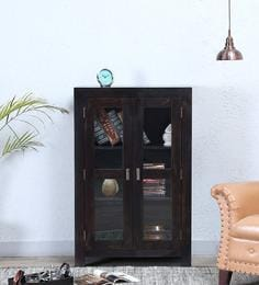 Oriel Two Door Book Case In Warm Chestnut Finish By Woodsworth