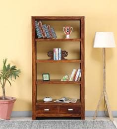 Oriel Tall Book Shelf In Honey Oak Finish By Woodsworth